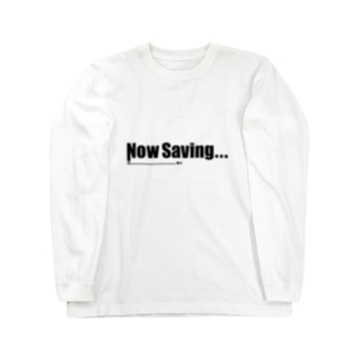 Now Saving_white Long sleeve T-shirts