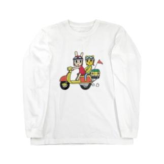 スクーターロングTシャツ Long sleeve T-shirts