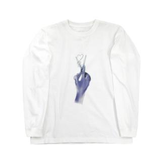 失恋ロングヘアーちゃんのこころ Long sleeve T-shirts