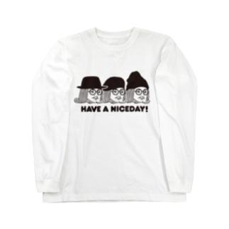 王様 Have a Nice Day! Long sleeve T-shirts