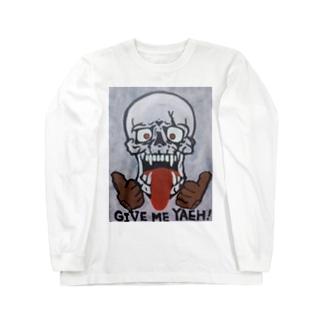 スカル typeD Long sleeve T-shirts