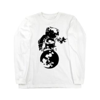 月面着陸 Long sleeve T-shirts