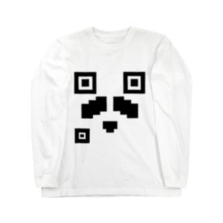 PNDコード (顔) Long sleeve T-shirts
