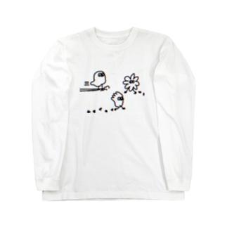 スライドちょぴ 鳥さんみたいなイキモノ Long sleeve T-shirts