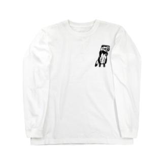 そば屋タヌキくん Long sleeve T-shirts