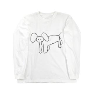 パーカーにエレファント君が!!! Long sleeve T-shirts