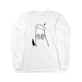 ゆるおこじょちゃん Long sleeve T-shirts