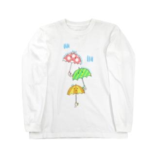濡れたくない濡れたくない濡れたくない Long sleeve T-shirts