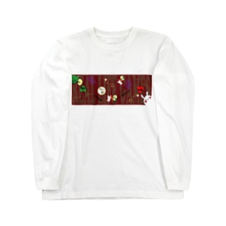 happy lifeのリアル人生ゲーム ロゴグッズ〜赤ver〜 Long sleeve T-shirts