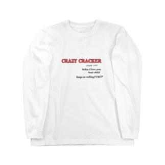 CRAZY CRACKER Long sleeve T-shirts