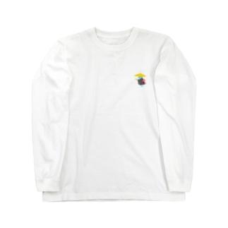 百鬼夜行の豆腐小僧 Long sleeve T-shirts