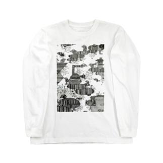 モジョ船に乗るよ Long sleeve T-shirts