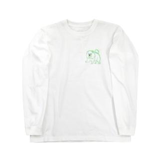 犬チャウチャウ Long sleeve T-shirts