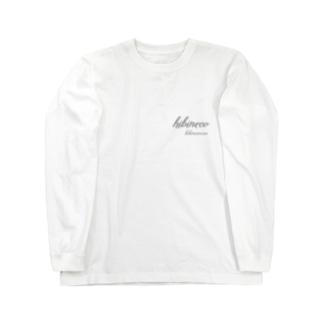 hibineco/hibinecocco 筆記フォント Long sleeve T-shirts
