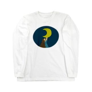 お月様、ね。 Long sleeve T-shirts