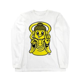 ラブ & ピース ブッダ Long sleeve T-shirts