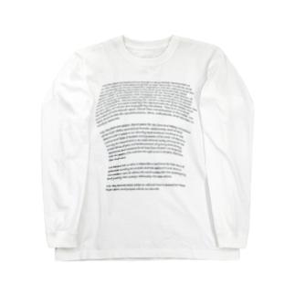 おっぱいが大きく見える英語_日本国憲法前文_191123 Long sleeve T-shirts