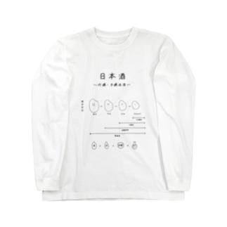 日本酒〜吟醸・本醸造酒ver〜 Long sleeve T-shirts