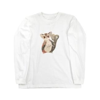 モモンガのもずくぅちゃん2 Long sleeve T-shirts