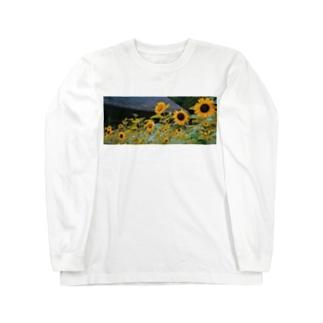 向日葵 Long sleeve T-shirts