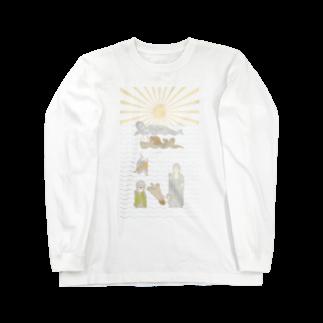 ザ・ワタナバッフルのラッコ+仏像 Long sleeve T-shirts