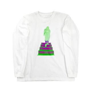 大きな背中 Long sleeve T-shirts