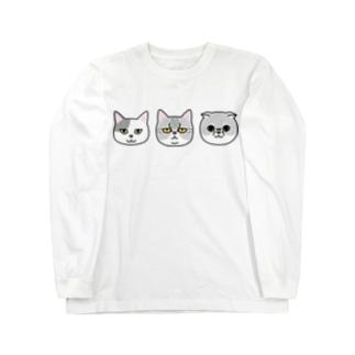 グレネコ Long sleeve T-shirts