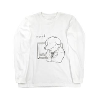 紳士犬 Long sleeve T-shirts