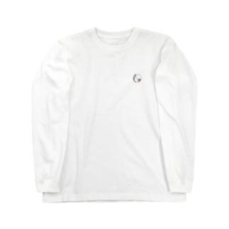 ちいさなイラストver.まんまる三毛猫 Long sleeve T-shirts