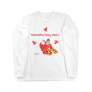 未確認飛行物体!(文鳥) Long sleeve T-shirts