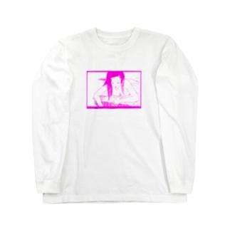 プールサイドレディー Long sleeve T-shirts