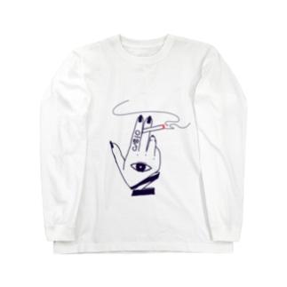 受眼喫煙 Long sleeve T-shirts