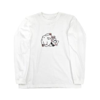 ほんのうをわすれた動物たち「ねこ」 Long sleeve T-shirts