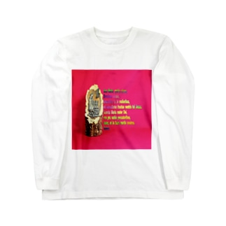 FUCHSGOLDのアヴェ・マリアの祈祷文  Hail Mary / Ave Maria Long sleeve T-shirts