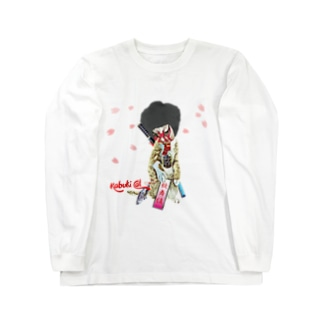 Kabuki cat 桜吹雪 Long sleeve T-shirts