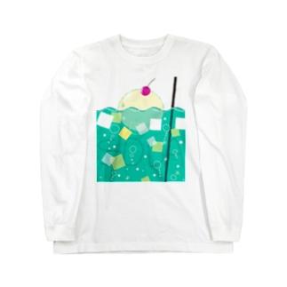 メロンクリームソーダ Long sleeve T-shirts