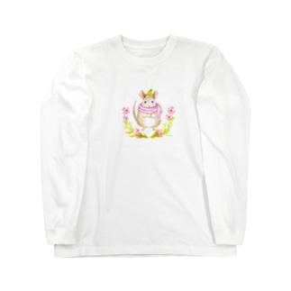 お散歩チンチラ Long sleeve T-shirts