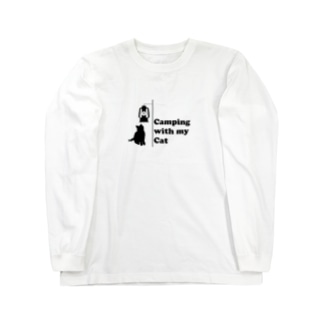 Camping with my Cat 2 Long sleeve T-shirts