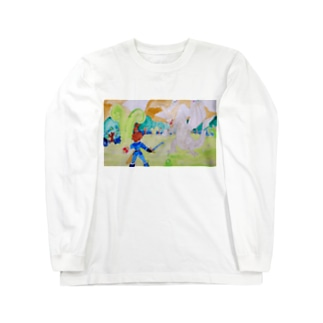 白竜との決戦 Long sleeve T-shirts