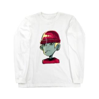 目つき悪男 Long sleeve T-shirts