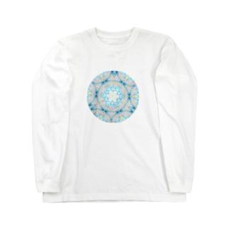 ハナガサクラゲ万華鏡 Long sleeve T-shirts