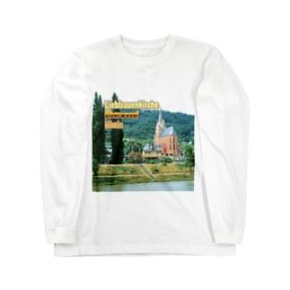 ドイツ:ライン川と教会 Germany: Church at Rhein/ Oberwesel Long sleeve T-shirts