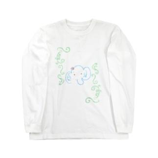 ぱおちゃん長そで(お花おすましロココ) Long sleeve T-shirts