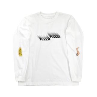 ピザピザピザピザピザピザピザピザピザピザ Long sleeve T-shirts