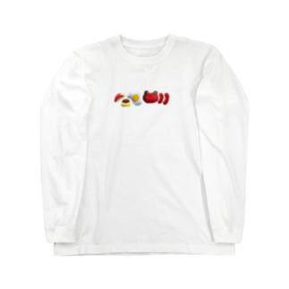 お弁当整列 Long sleeve T-shirts
