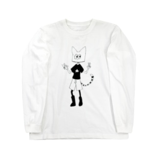 シロくん Long sleeve T-shirts