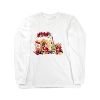クリスマスのお家 Long sleeve T-shirts