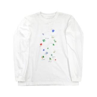 はーちゃん の ほうせき ずかん Long sleeve T-shirts