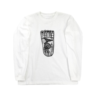 仏足散華 Long sleeve T-shirts