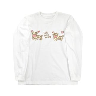 モーモーウシのモーモーちゃん Long sleeve T-shirts